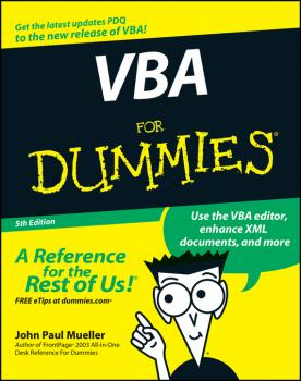 Читать VBA For Dummies - John Mueller Paul